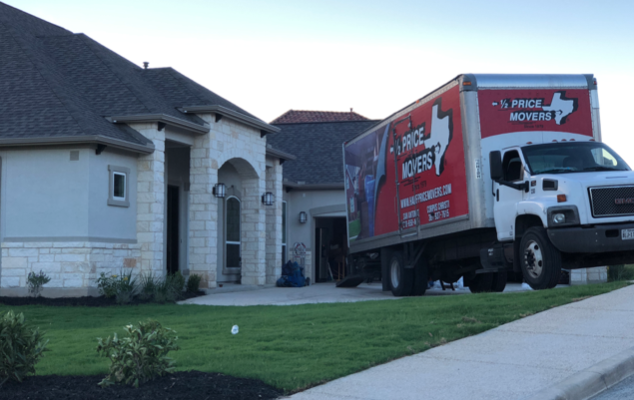 Half Price Movers at a Customers House